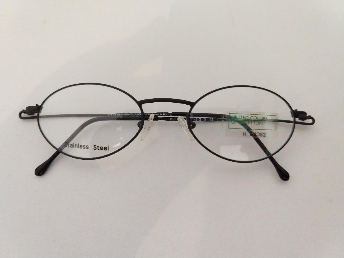 2077e0e3b9892 armação oculos oval preto pequeno inox retro super leve. Carregando zoom.