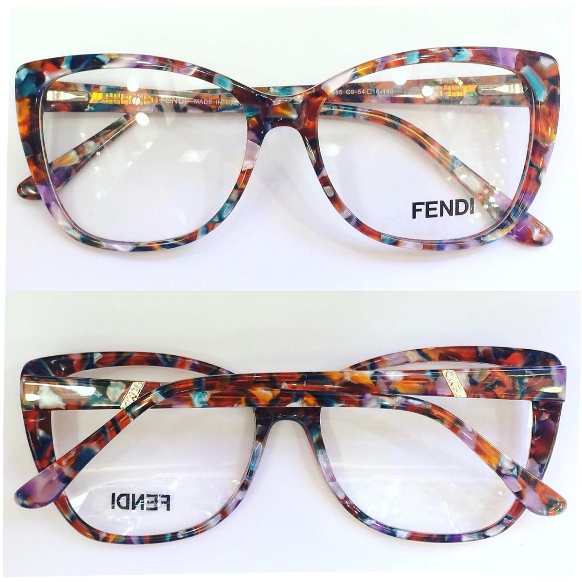 caed89cfe1e55 armação oculos p  grau feminina gatinho acetato fe8 original. Carregando  zoom.