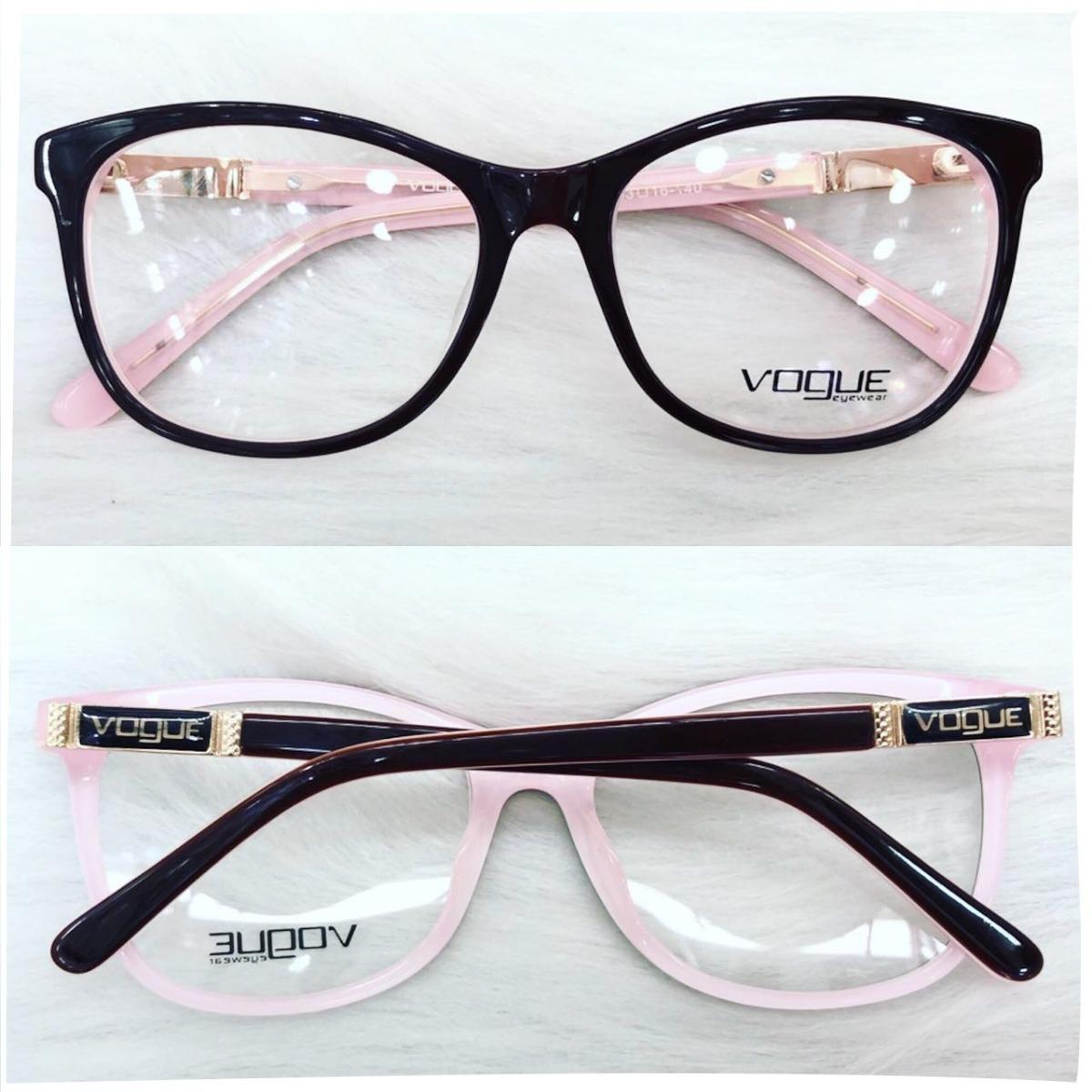52774c3248163 armação oculos p  grau feminino acetato original vg3 novo. Carregando zoom.