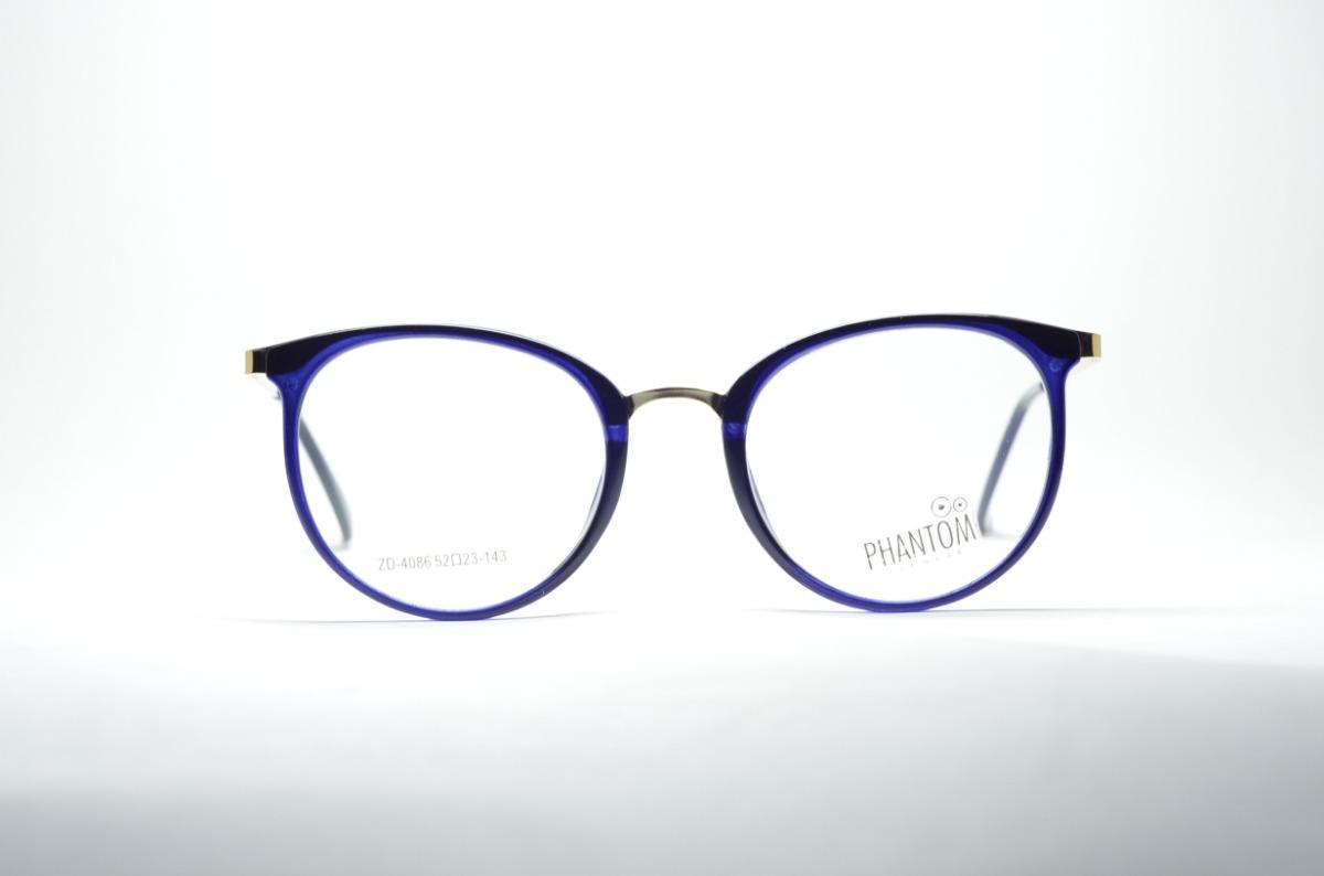 e3081ff89fde3 armação óculos p  grau feminino degradê metal redondo moda. Carregando zoom.