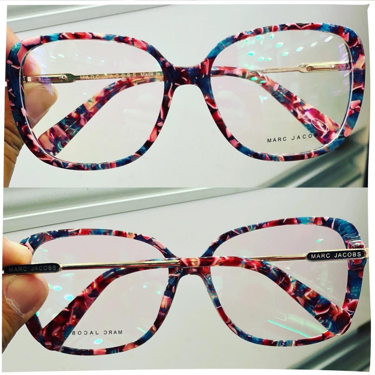 9e540f205f716 armação oculos p  grau feminino grande acetato marc original. Carregando  zoom.
