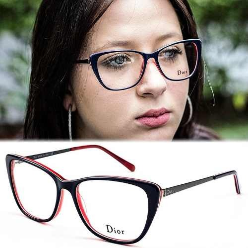 f3af5dd694978 Armação Oculos P  Grau Feminino Importado Dr24 Original - R  120