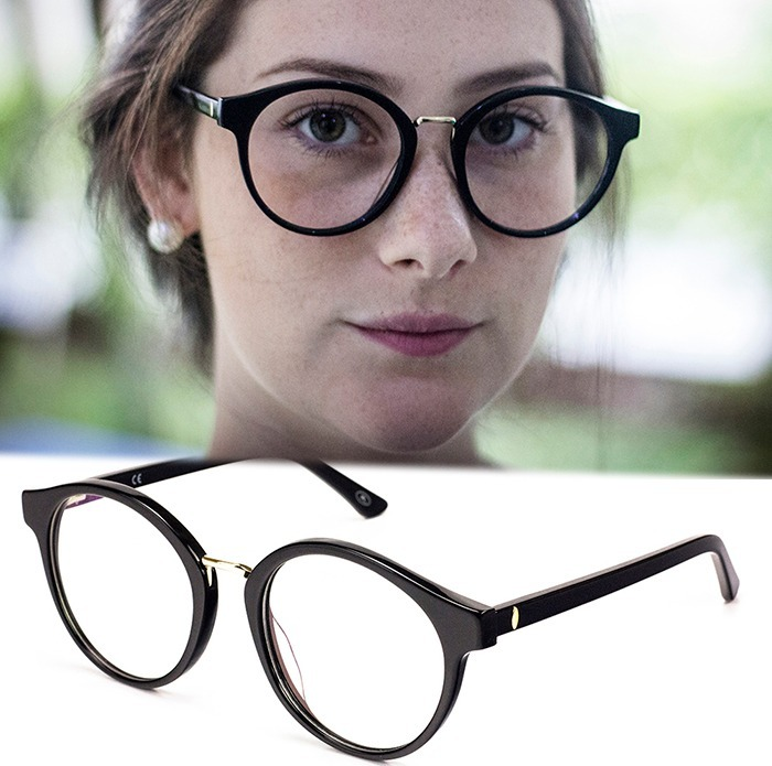 56e5f42d2ce9a Armação Oculos P  Grau Feminino Mf-45 Acetato Redondo Grande - R  70 ...