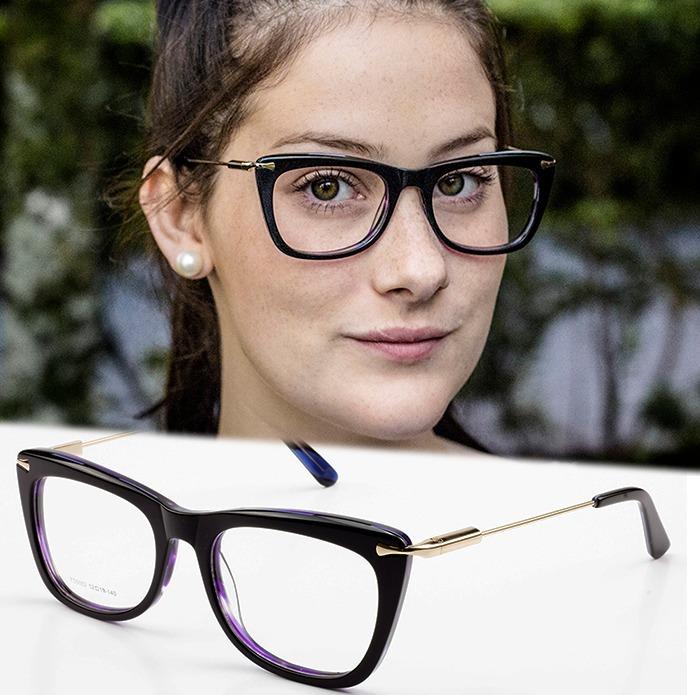 e8fad5d127bb8 Armação Oculos P  Grau Feminino Mf2 Acetato Metal Importado - R  57 ...