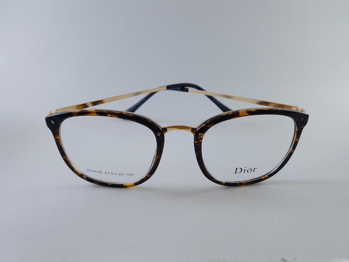 512ea7f25 armação óculos p/ grau feminino quadrado mesclado oncinha. Carregando zoom.
