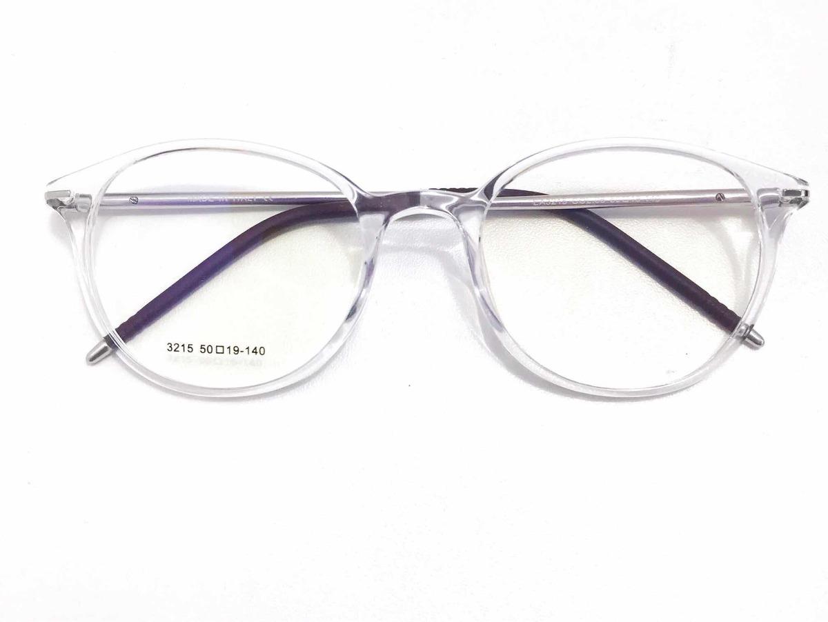 98ba2f914c781 armação óculos p  grau retrô transparente masculino femenino. Carregando  zoom.