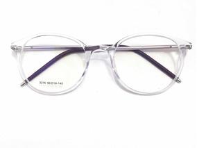 ecb0956f0 Armação Óculos P/ Grau Retrô Transparente Masculino Femenino