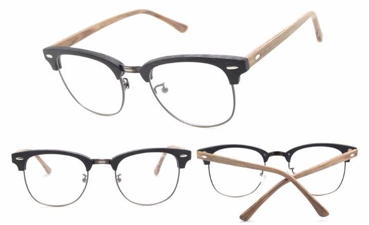 Armação Óculos P  Grau Unissex Club Master Madeira - R  124,99 em ... 51a24585e3