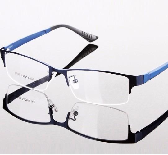 236f2bedd Armação Óculos Para Descanso Sem Grau Novo Metal Discreto Ba - R$ 83 ...
