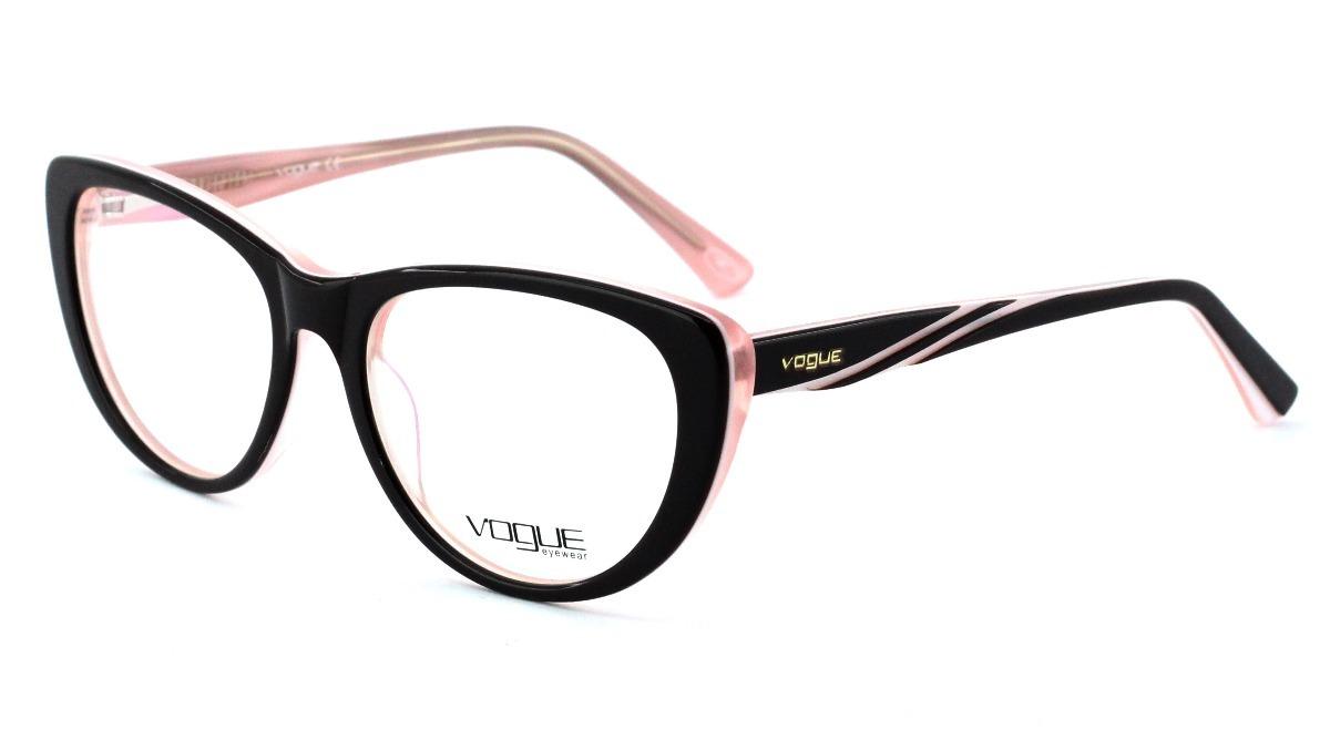 da2584d602820 armação óculos para grau feminino acetato vog51 original. Carregando zoom .