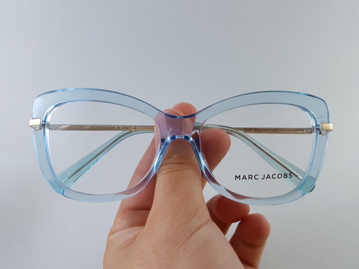2c59aacd8 armação oculos para grau feminino azul c/ pernas dourada. Carregando zoom.