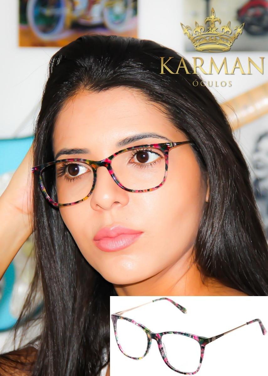 981a8951f0c93 armação óculos para grau feminino chanel acetato metal. Carregando zoom.