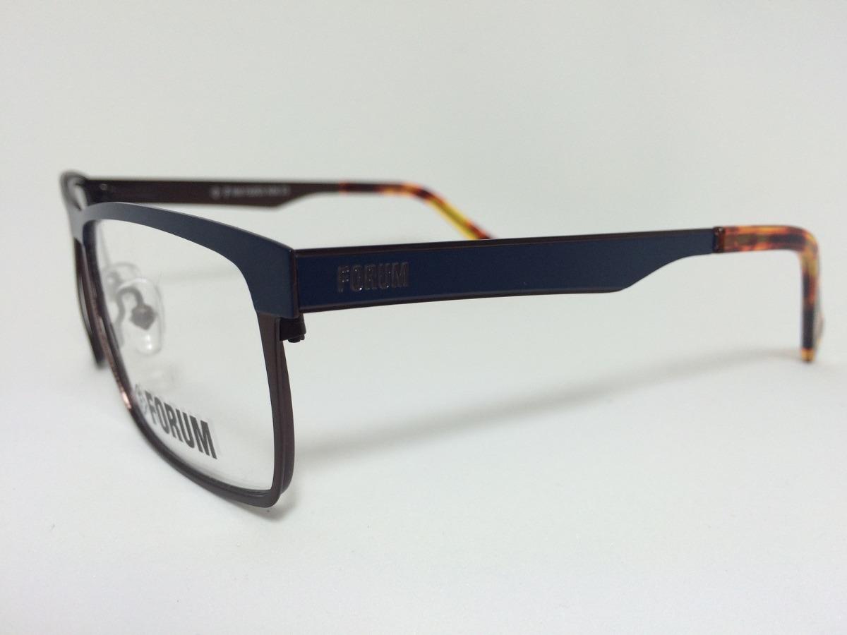7335e2075 Armação Óculos Para Grau Forum Receituário Azul Com Bronze - R$ 259 ...