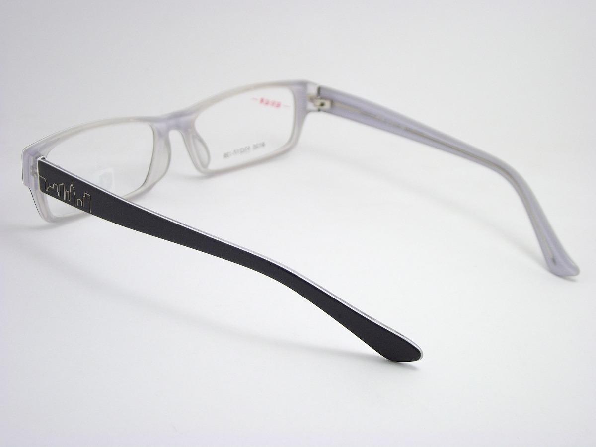 1e79f4f24 armação óculos para grau preto e branco em acetato 8135 mj. Carregando zoom.