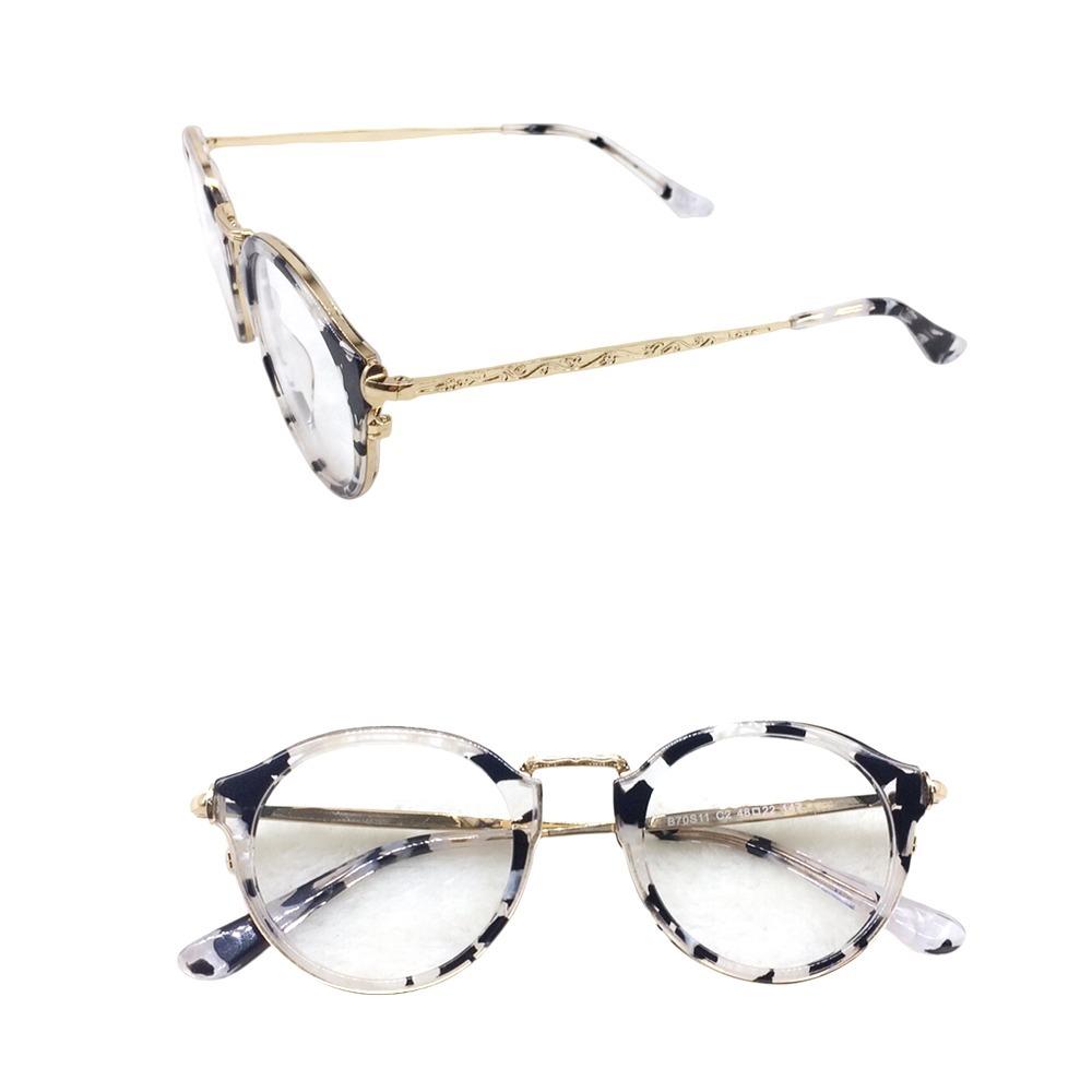 a868a2d4836c2 armação óculos p grau feminino redondo geek grande a008. Carregando zoom.