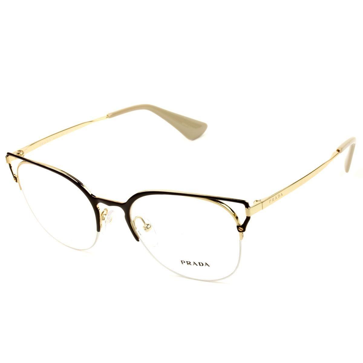 Armação Óculos De Grau Feminino Prada Vpr64u 98r-101 - R  879,00 em ... d06d2cb66a