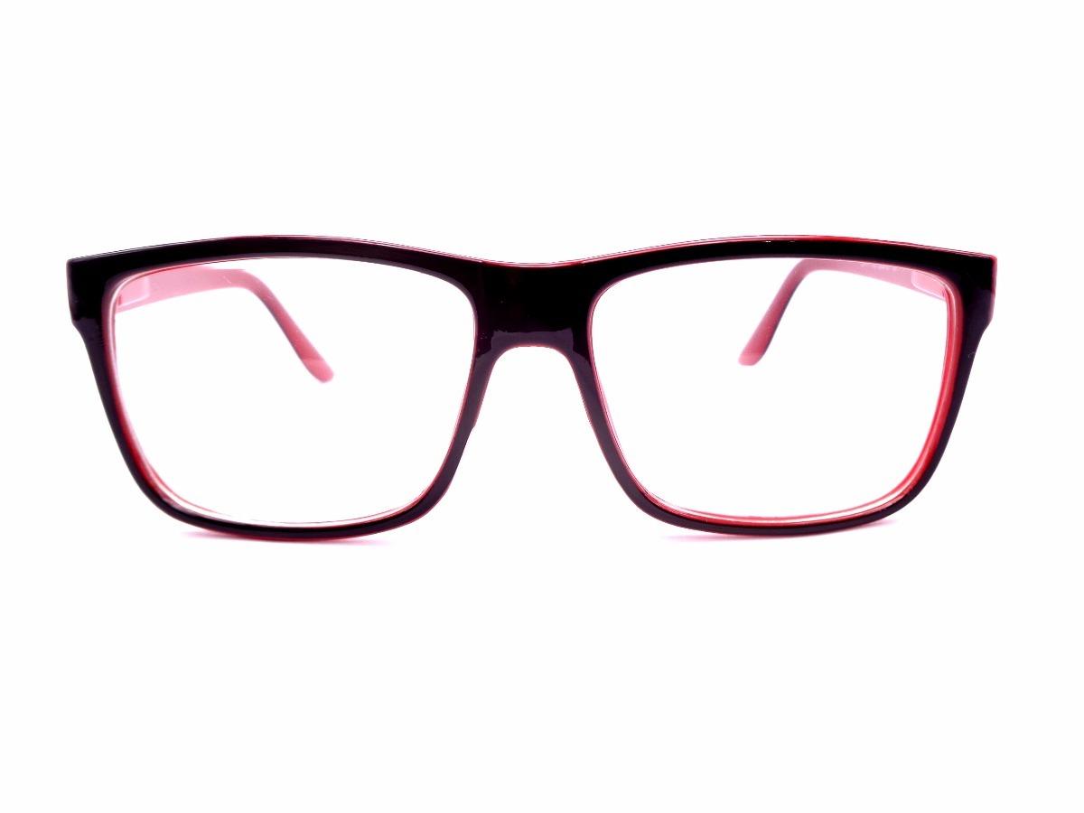 23cb45980400b armação óculos preta com vermelha adulto lente sem grau z41p. Carregando  zoom.