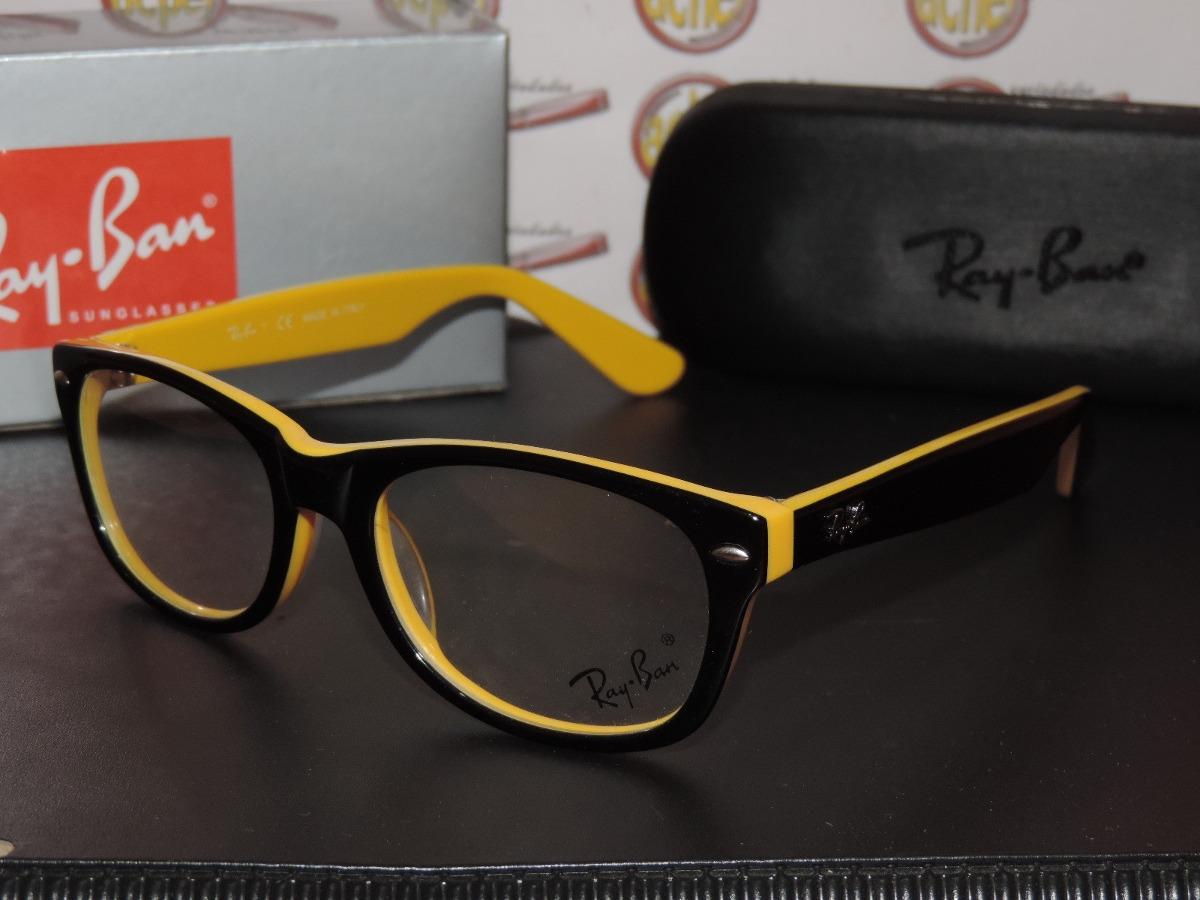 ... grau rb5228 wayfarer amarelo preto ray ban. Carregando zoom... armação  oculos ray ban. Carregando zoom. e4b49a8445