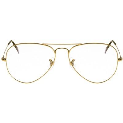 4e50db99de8be Armação Óculos De Grau Aviador Ray Ban Unissex Dourado - R  342,00 em