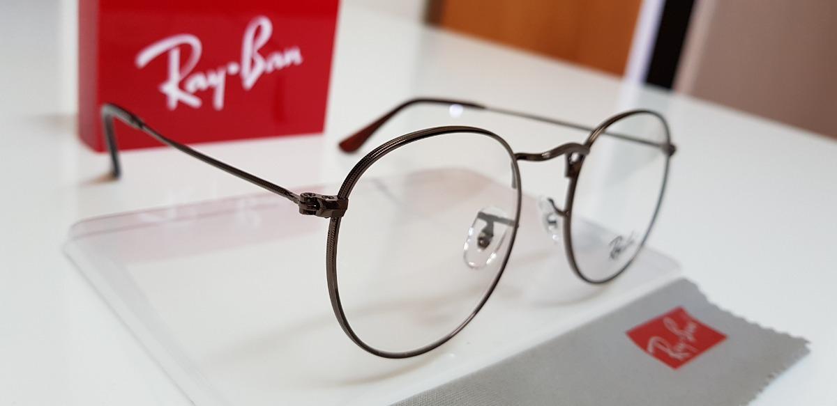 6f466501cdf23 armação óculos ray-ban grau round rb3447 bronze. Carregando zoom.