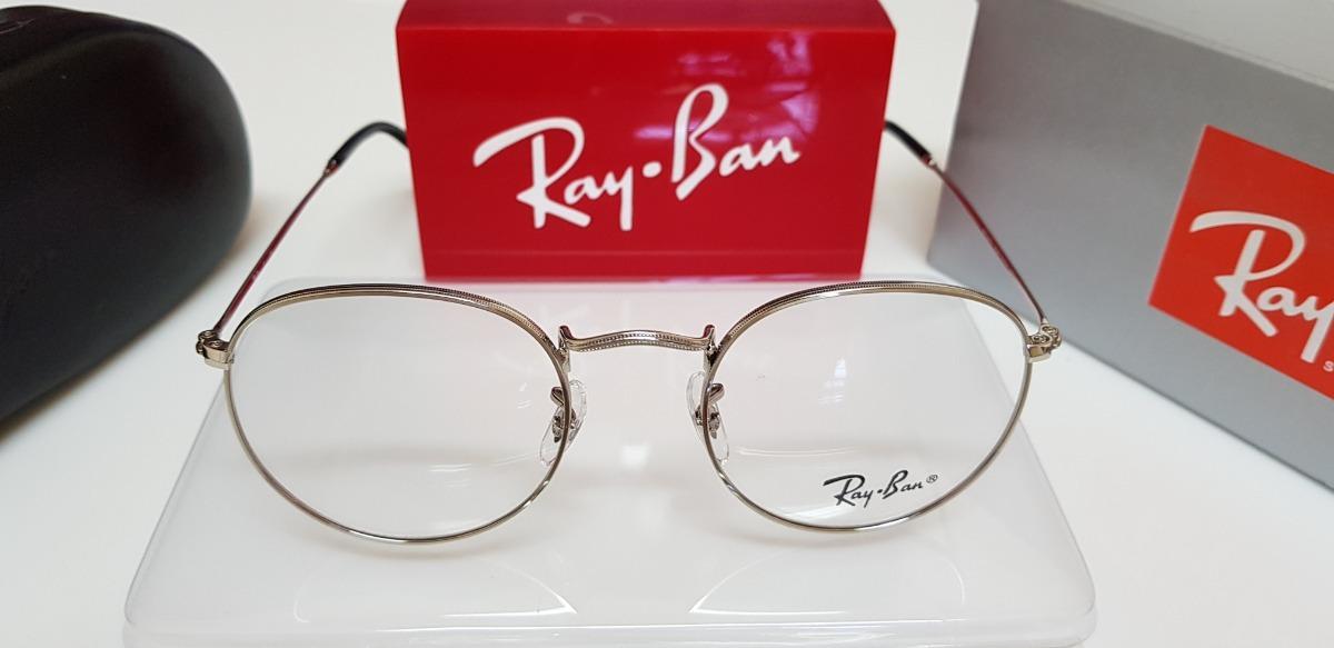 2bf9449661fbf armação óculos ray-ban grau round rb3447 cromado prata. Carregando zoom.