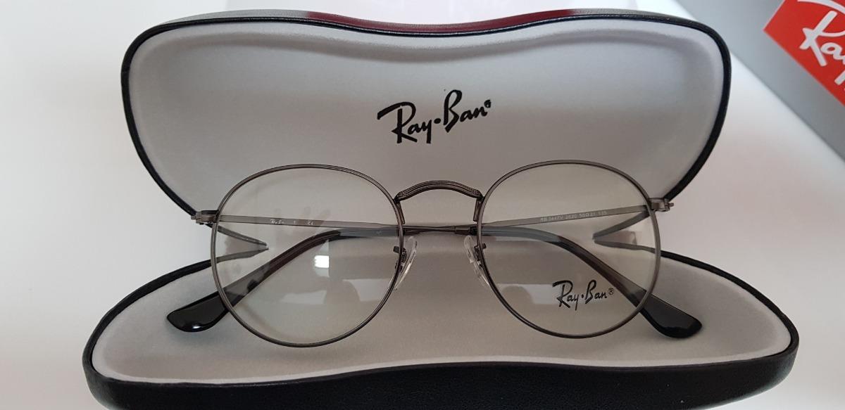 25492522d3676 armação óculos ray-ban grau round rb3447 grafite. Carregando zoom.