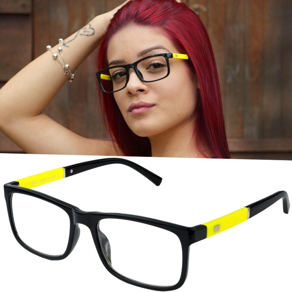 Armação Óculos Rayban Feminino Mulher Preto Geek 5001 - R  48,49 em ... 0b1b83954d