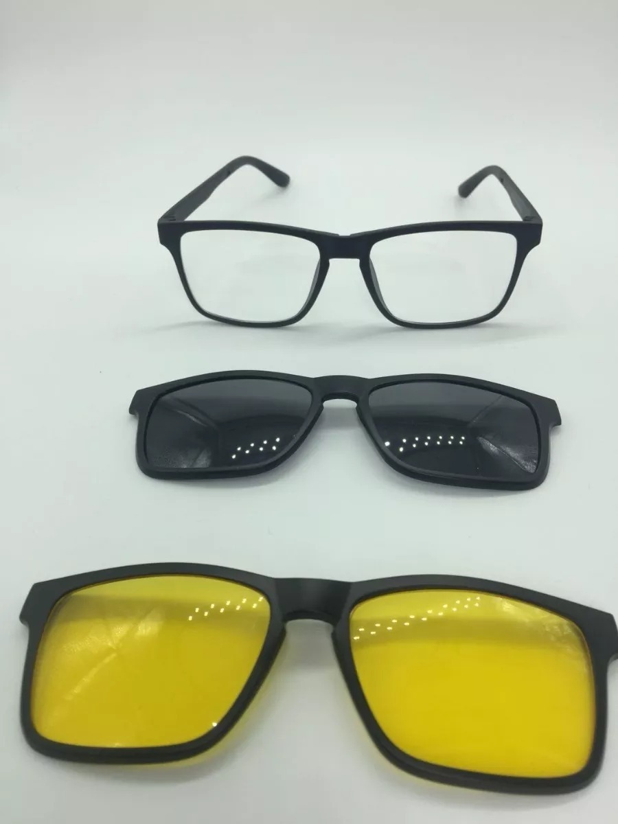 512b80858563b armação óculos rb2075 + 2 clipons masculino e feminino. Carregando zoom.