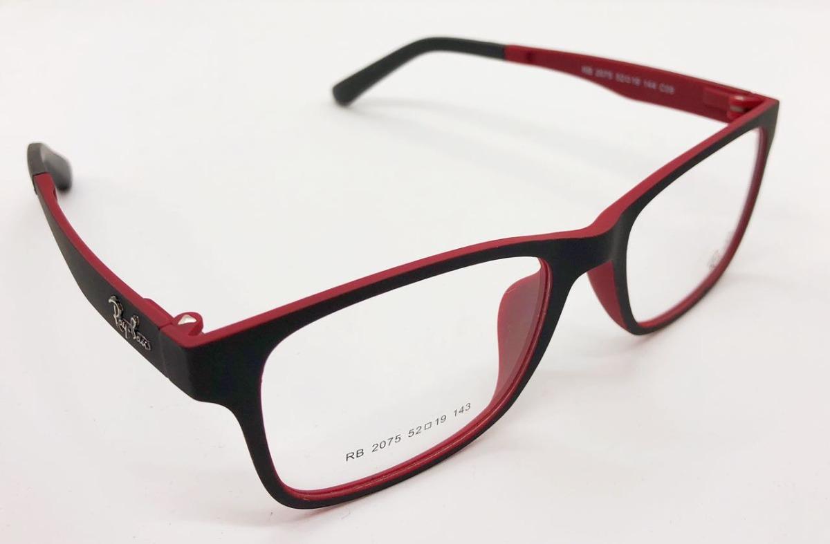 b52e629bd81d5 armação óculos rb2075 clipon 2 em 1 grau e sol. Carregando zoom.
