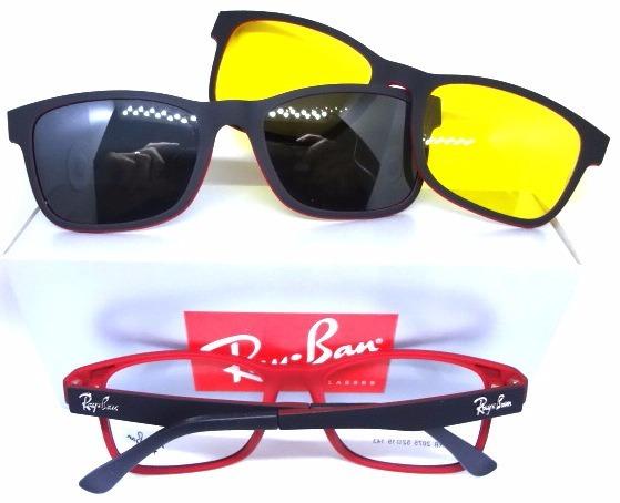 92ae20289b5bb Armação Óculos Rb2075 Clipon 2 Em 1 Grau E Sol - R  99