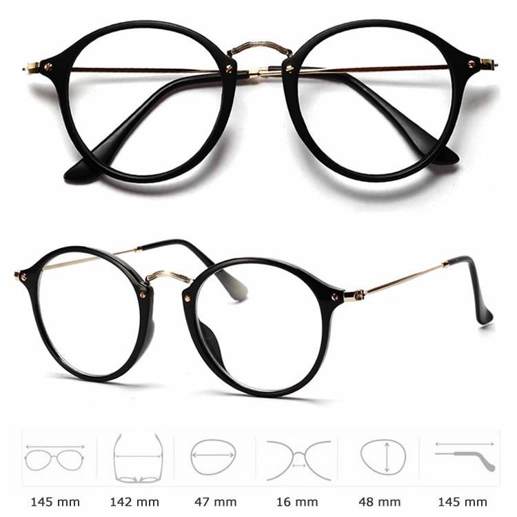 6e5556feda3f6 Armação Oculos Redonda Retrô Feminina Acetato E Metal - R  99