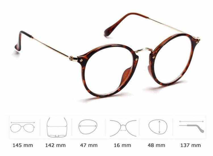 Armação Oculos Redonda Retrô Feminina Acetato E Metal - R  99,90 em ... 01afc2f80a