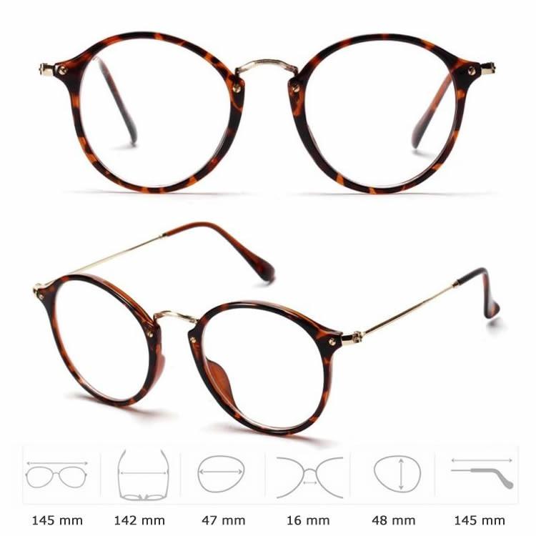 9616390a43f01 Armação Oculos Redonda Retrô Feminina Acetato E Metal - R  99,90 em Mercado  Livre