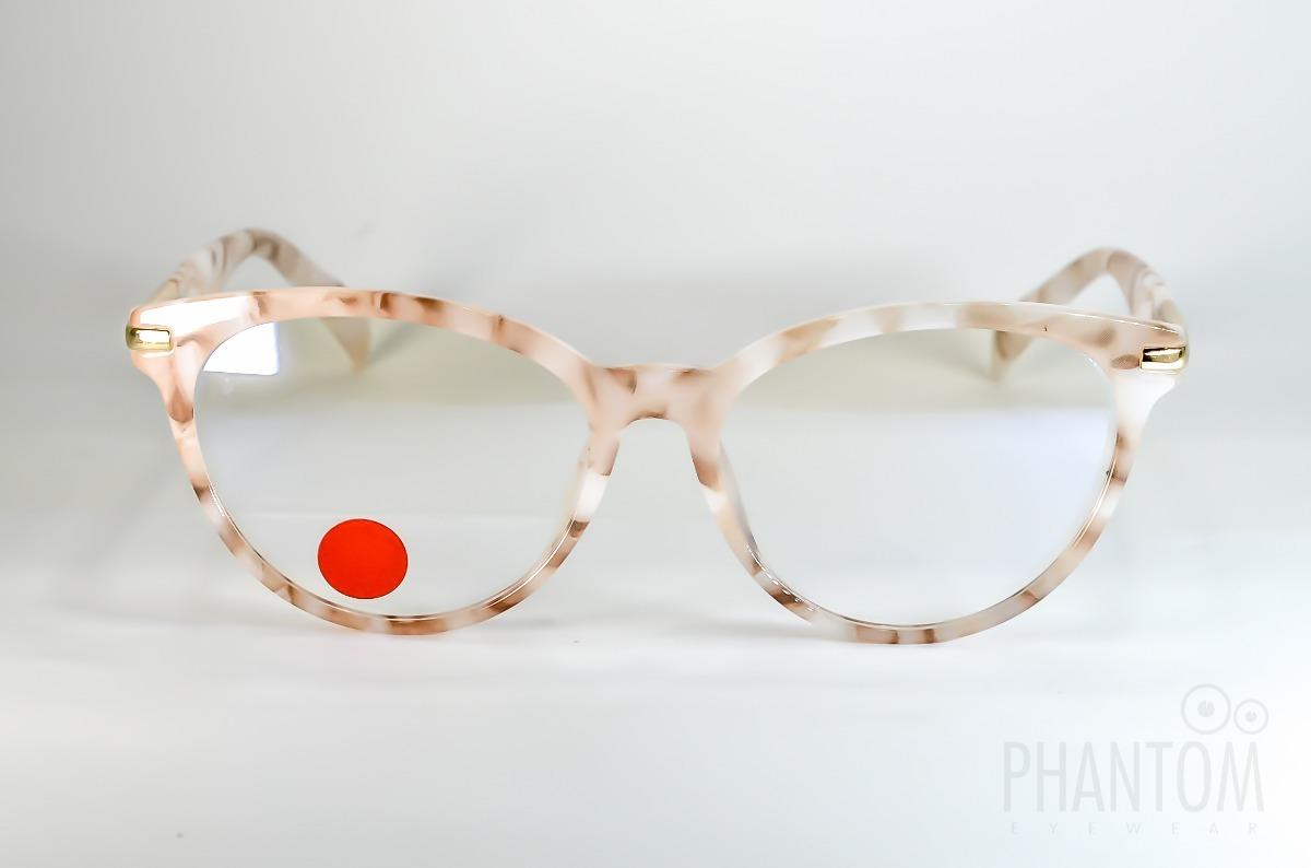 2ce0173b5f404 armação óculos redondo feminino luxuoso bege nude gatinho. Carregando zoom.