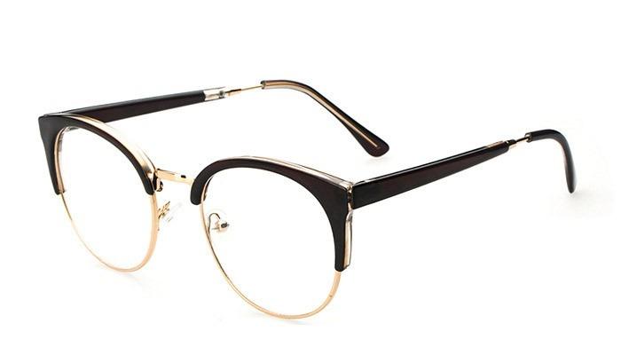 3d10d4ea92c98 Armação Óculos Redondo Gatinho Sem Grau Descanso Novo Oa - R  83