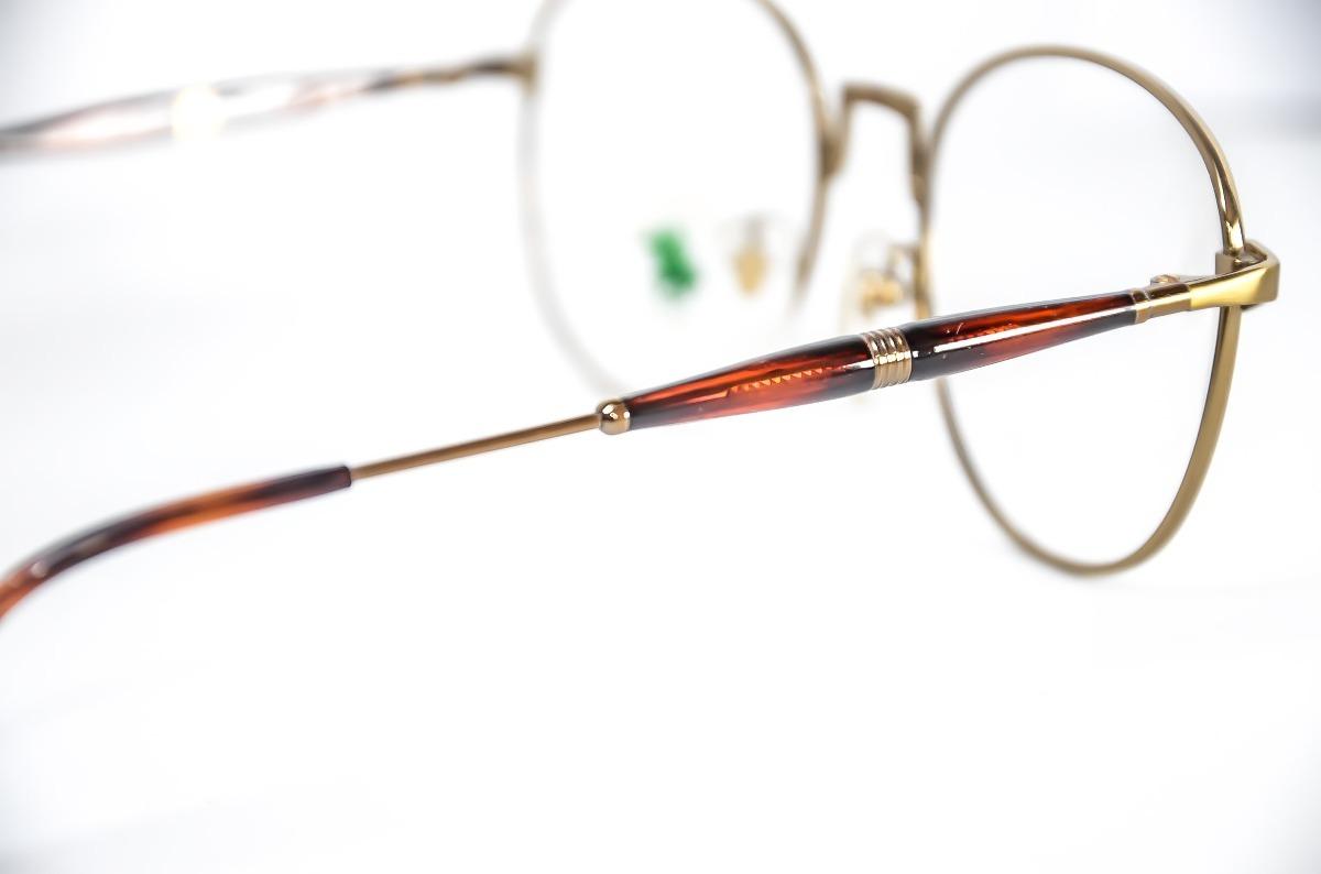 armação óculos redondo grande dourado retro antigo qualidade. Carregando  zoom. 6f4479e9d4