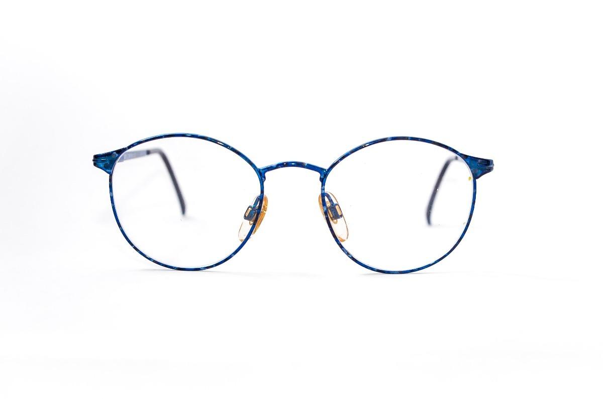ac3533153233d armação oculos redondo masculino retro resistente polo azul. Carregando  zoom.