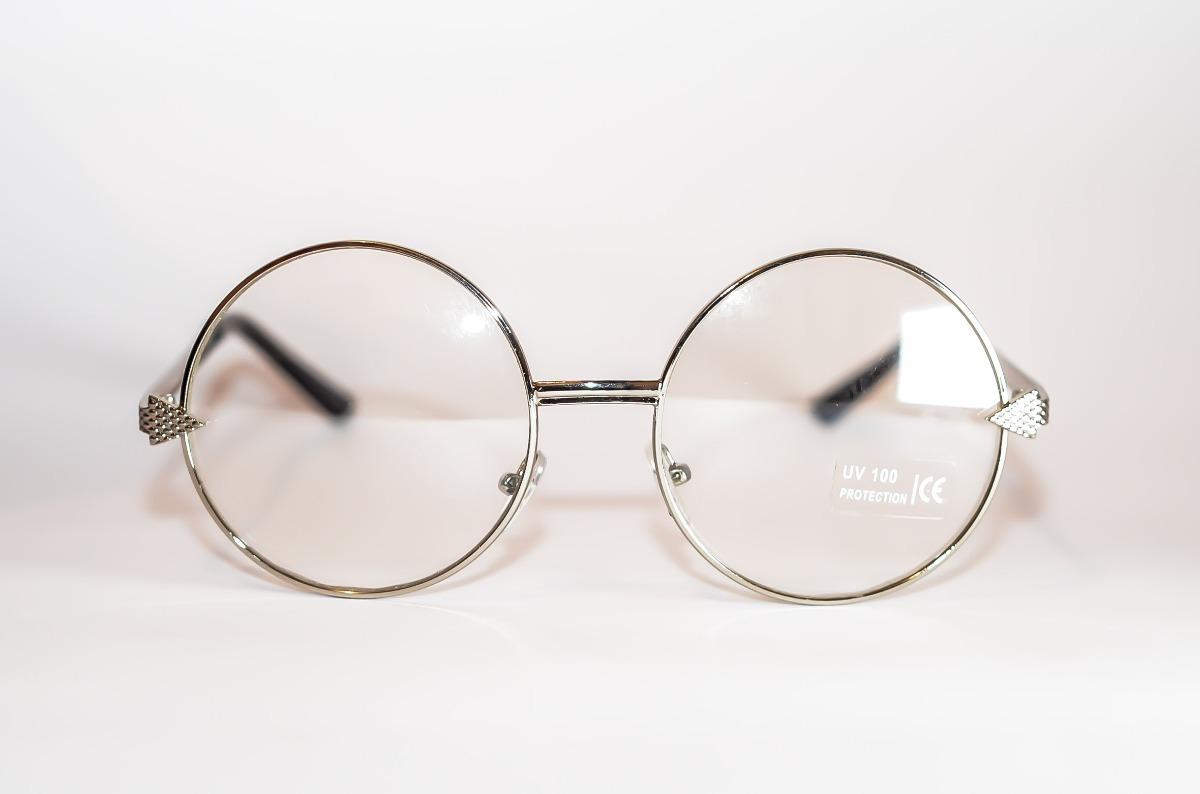armação óculos redondo metal prata retro john lennon unisex. Carregando  zoom. fa6bc80f61