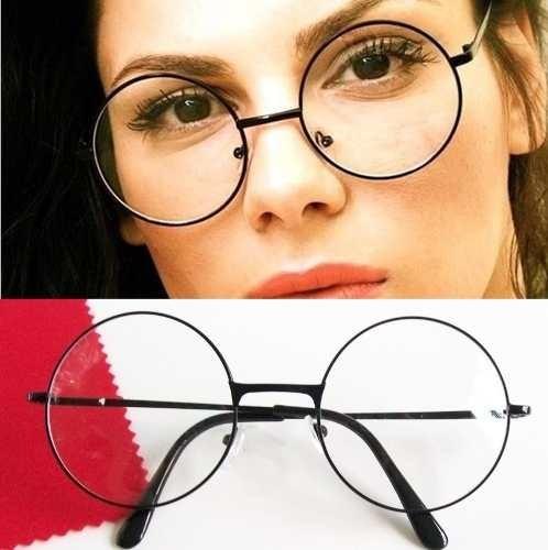 Armação Óculos Redondo Metal Retrô Geek Nerd Alternativo - R  29,90 em  Mercado Livre 046f3a2129