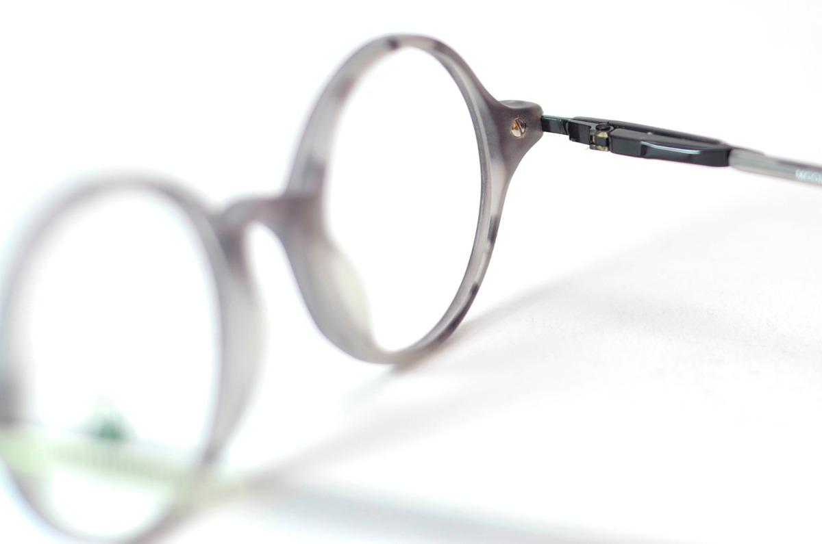 24df4ee9e55 armação óculos redondo pequeno cinza fosco moon retro. Carregando zoom.
