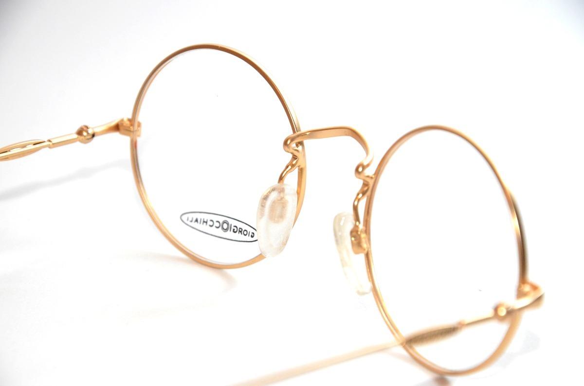 8c1e81c803638 armação oculos redondo preto dourado pequeno john lennon. Carregando zoom.