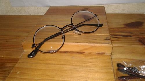 Armação Óculos Redondo Unissex Pronto P  Usar Lentes Incolor - R  58 ... 6bd6c2a737