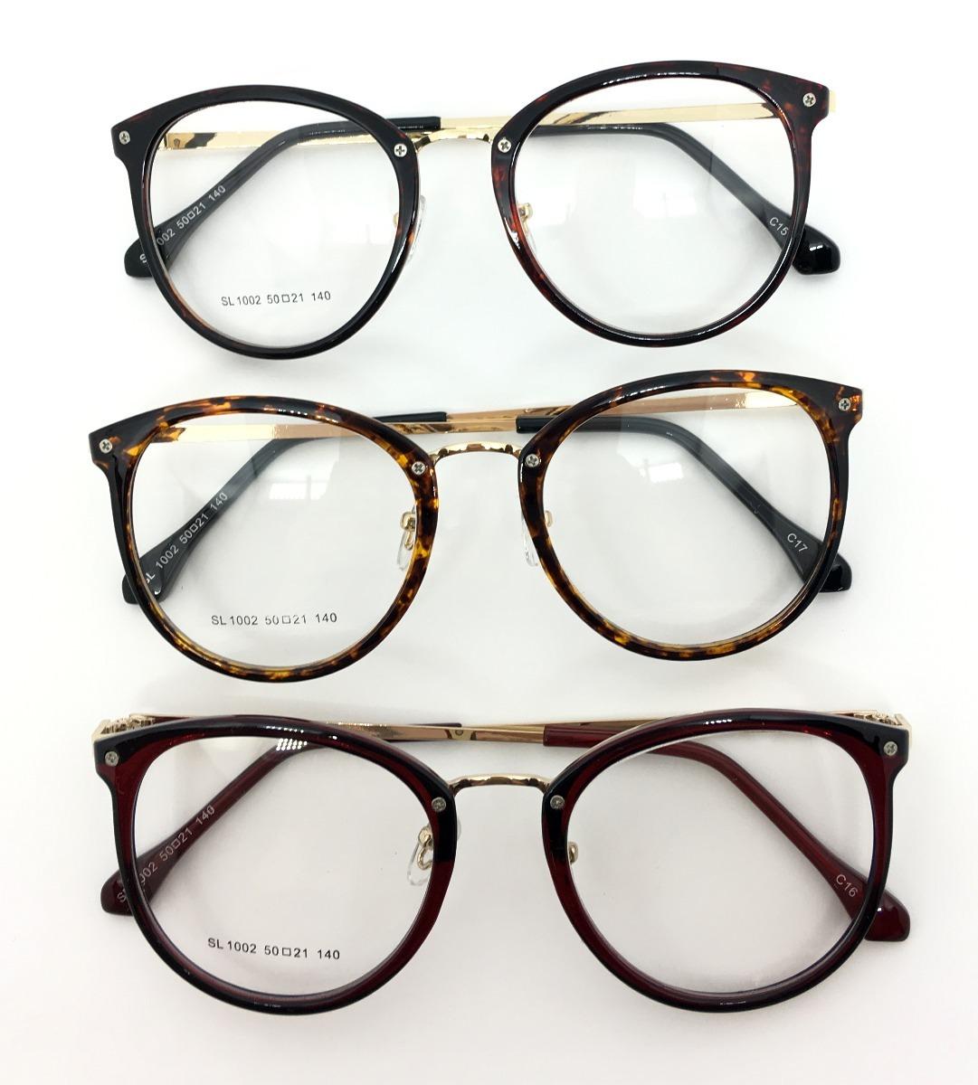 4da141ea6a7c5 armação óculos redondo vintage feminino varias cores 1002. Carregando zoom.