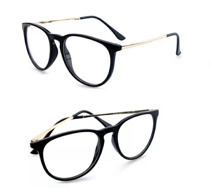 Armação Óculos Retro Redonda Oval Slim De Metal Feminino A33 - R  39 ... 58d025ff1d
