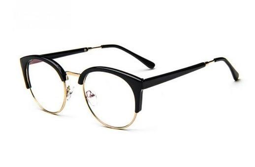 Armação Oculos Retro Simples De Grau Feminino Unissex Oferta - R  45 ... 034e29196f