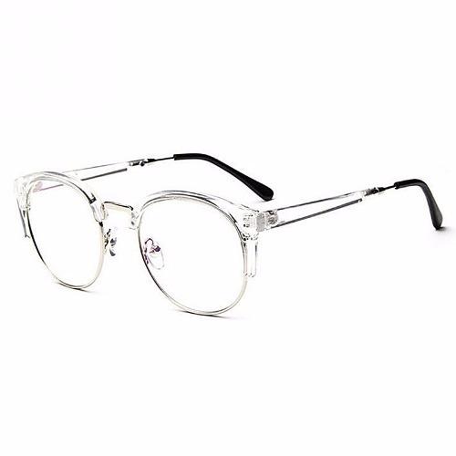 16c6e305c463c Armação Óculos Retró Vintage Caixa Metal Transparen cromado - R  69,99 em  Mercado Livre