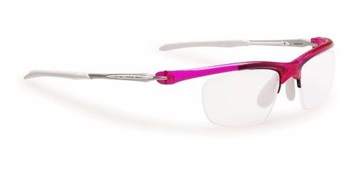 armação óculos rudy maya cristal rosa e branco r32 original