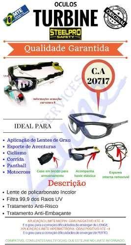 Armação Óculos Segurança P  Lente De Grau Steelpro Vicsa Epi - R  75 ... ac21026f3b