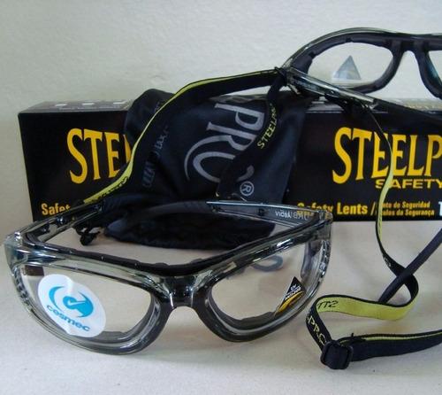armação óculos segurança p/ lente de grau steelpro vicsa epi