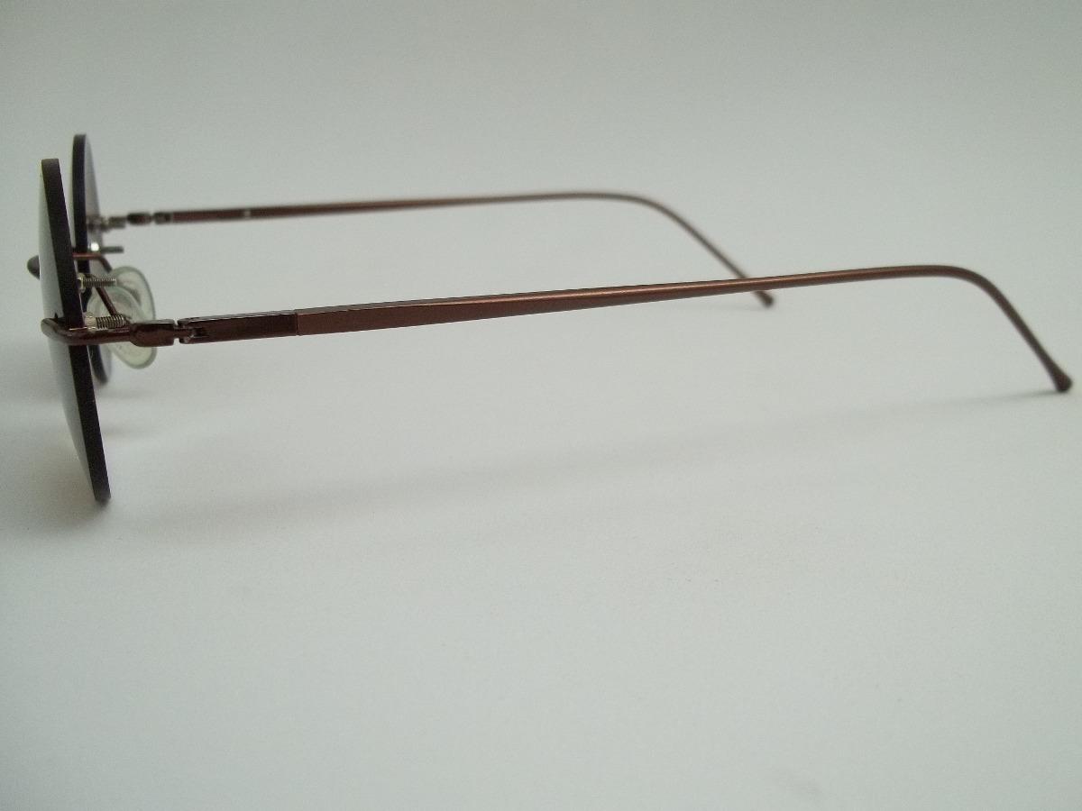 armação óculos sem aro redondo esporete-escuro- john lennon. Carregando  zoom. f273ac1d61